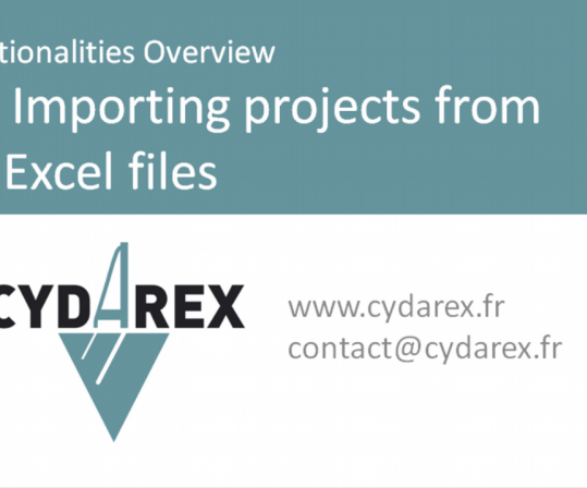 CYDAR 2018: Importing projects from Excel files